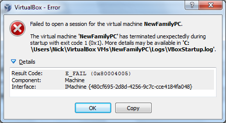 VBox 4.3.17-96101 error when attempting to start VM second dialogue box.png
