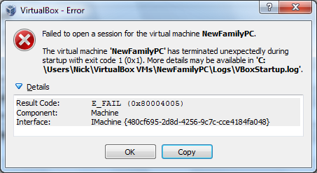 VBox 4.3.17-96342 error when attempting to start VM second dialogue box.png