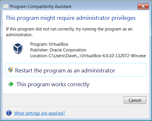 update post-install pop-up - might require administrator privileges.png